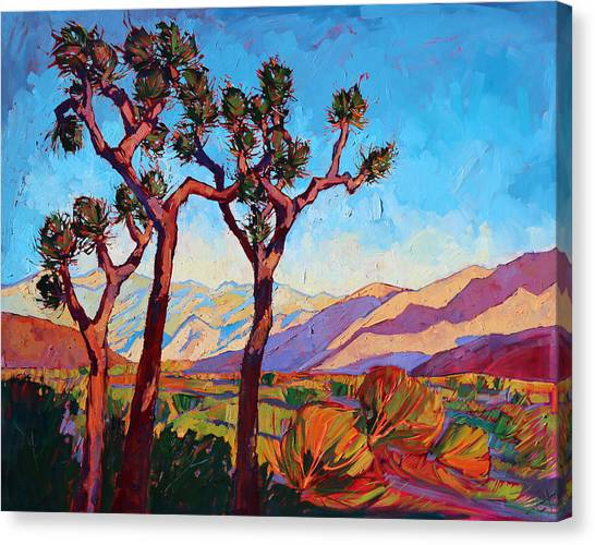 Mojave Desert Canvas Print - Dance Of The Joshuas by Erin Hanson