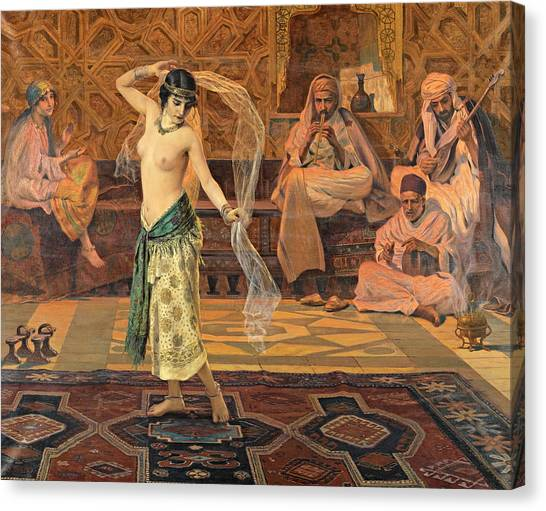 Canvas Print featuring the painting Dance Of The Seven Veils by Otto Pilny