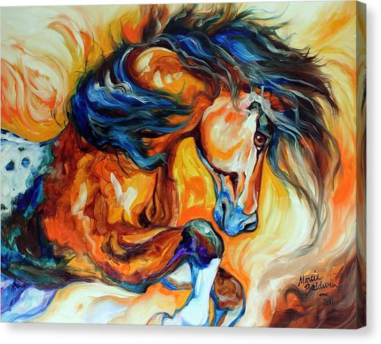 Dance Of The Wild One Canvas Print