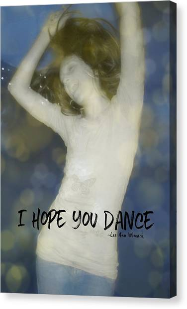 Dance Quote Canvas Print by JAMART Photography