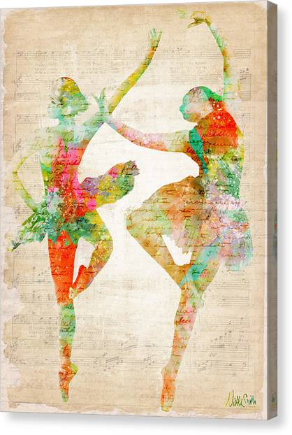 Tutu Canvas Print - Dance With Me by Nikki Smith