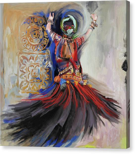 Figure Skating Canvas Print - Dancer 265 1 by Mawra Tahreem
