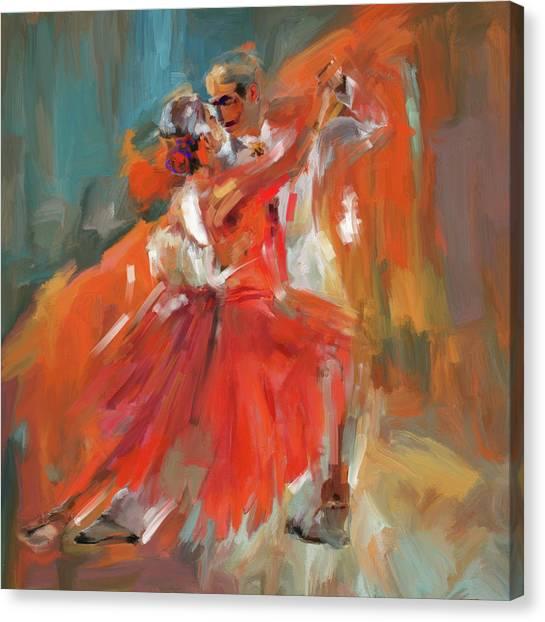 Figure Skating Canvas Print - Dancer 284 1 by Mawra Tahreem