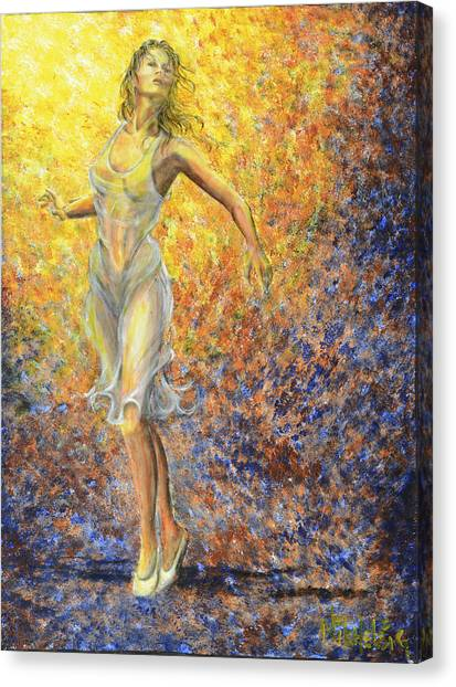Dancer Away Canvas Print