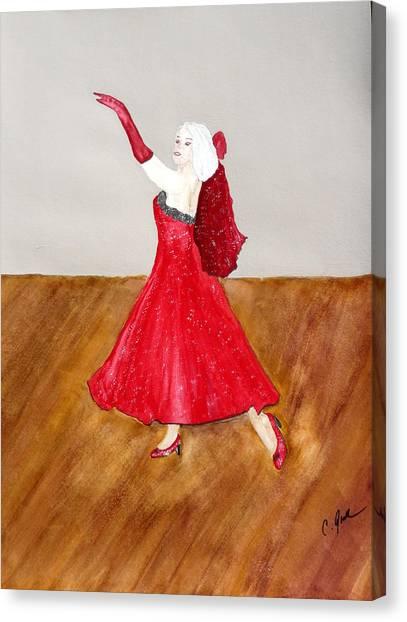 Dancer Canvas Print by Cathy Jourdan