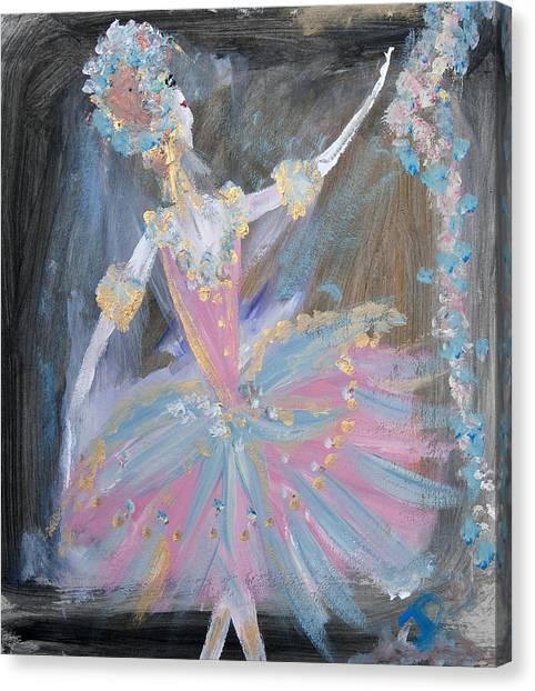 Dancer In Pink Tutu Canvas Print