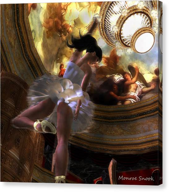 Dancer Canvas Print by Monroe Snook