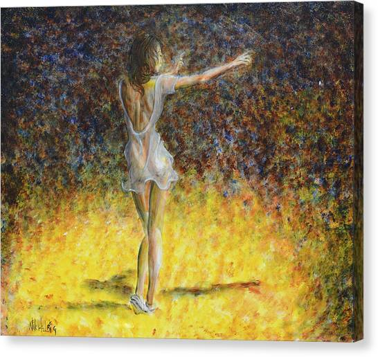 Dancer Spotlight Canvas Print