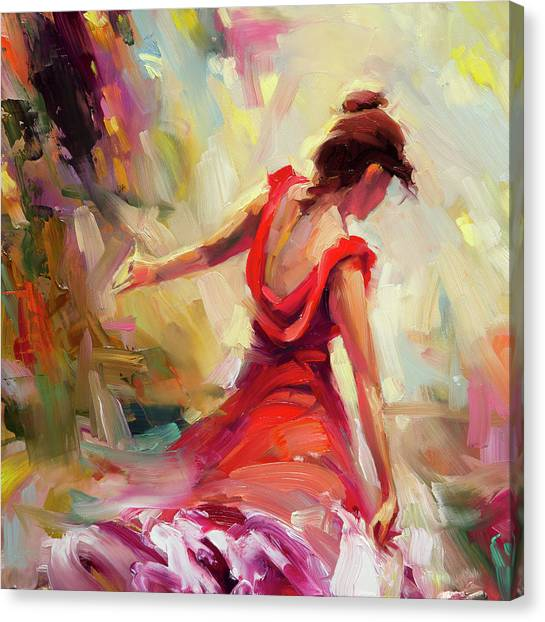 Shoulders Canvas Print - Dancer by Steve Henderson