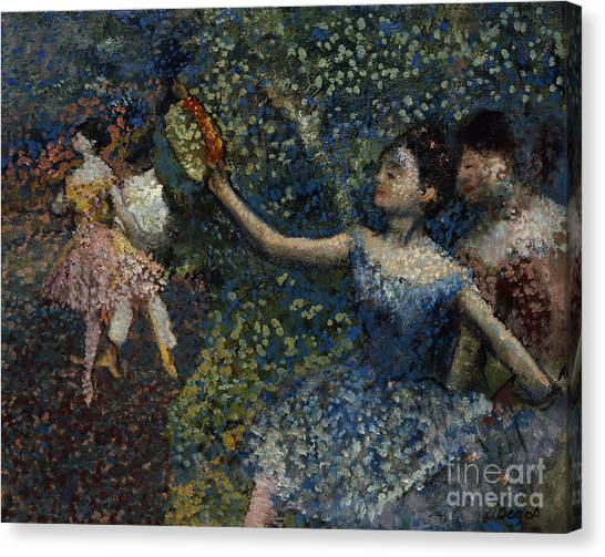 Tambourines Canvas Print - Dancer With A Tambourine by Edgar Degas