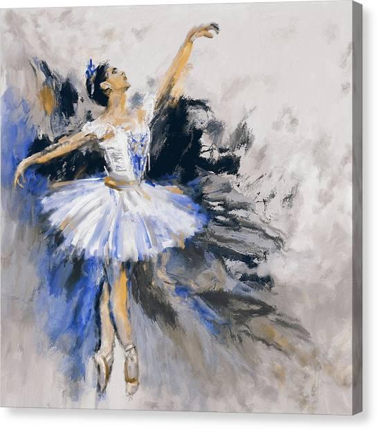 Figure Skating Canvas Print - Dancers 279 3 by Mawra Tahreem