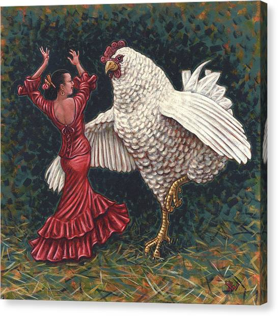 Dancers El Gallo Canvas Print