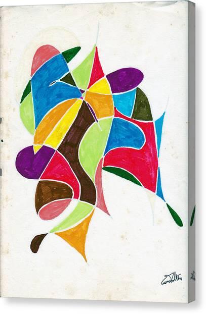 Dancers Canvas Print by Eugene Foltuz