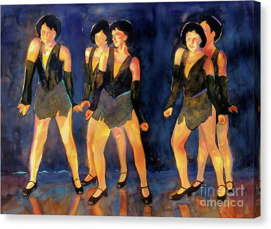 Tap Dance Canvas Print - Dancers  Spring Glitz     by Kathy Braud