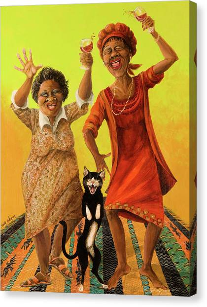 Grandma Canvas Print - Dancin' Cause It's Tuesday by Shelly Wilkerson