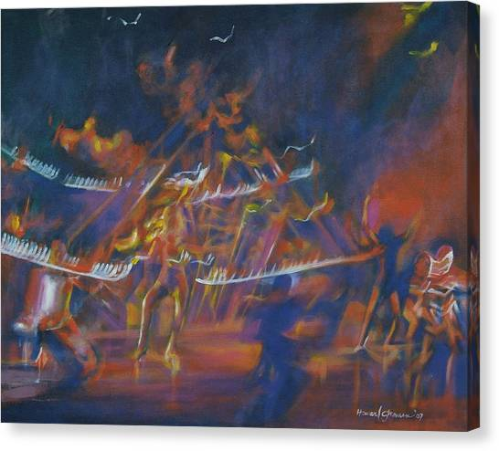 Dancin Canvas Print by Howard Stroman