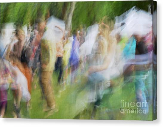 Dancing At The Music Festival Canvas Print