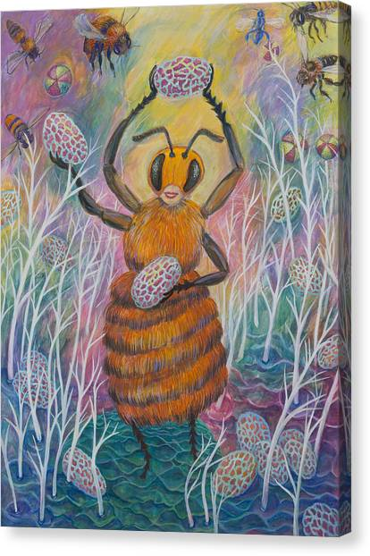 Dancing Bee Canvas Print