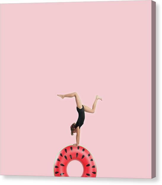 Minimal Canvas Print - Dancing by Caterina Theoharidou