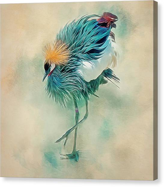 Dancing Crane Canvas Print
