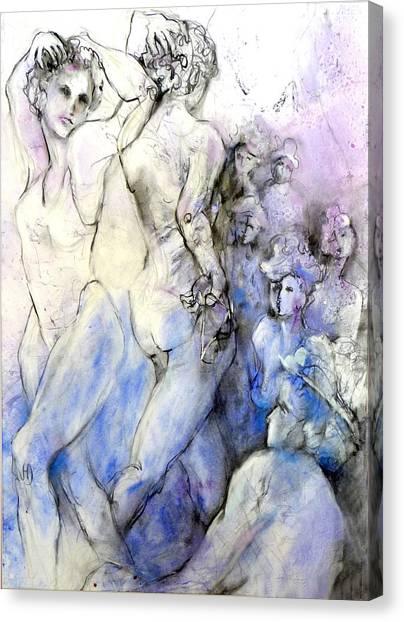 Dancing Damsels Canvas Print