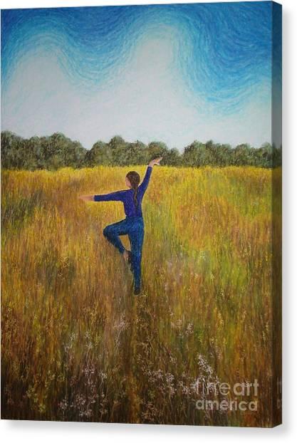 Dancing Field Canvas Print