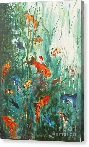 Dancing Fish Canvas Print