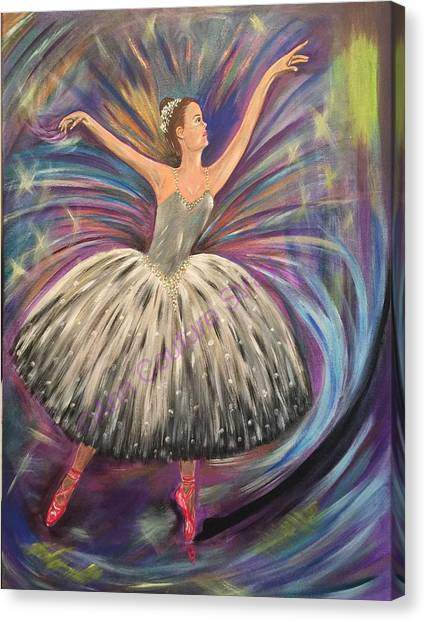 Limelight Canvas Print - Dancing For The Limelight by Ann Couture Stray