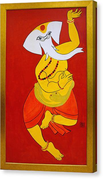 Dancing Ganesha Canvas Print