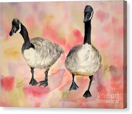 Dancing Geese Canvas Print