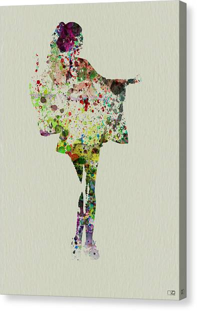 Japanese Canvas Print - Dancing Geisha by Naxart Studio