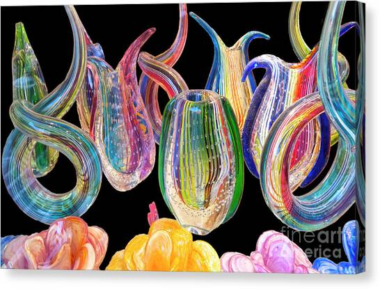 Decorative Glass Canvas Print   Dancing Glass Objects By Heiko  Koehrer Wagner