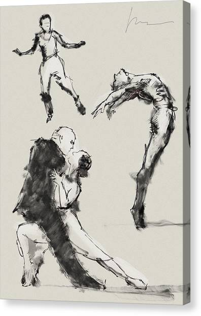 Tap Dance Canvas Print - Dancing by H James Hoff