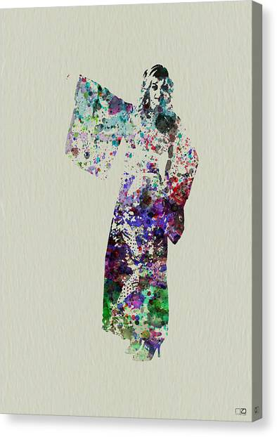 Costume Canvas Print - Dancing In Kimono by Naxart Studio