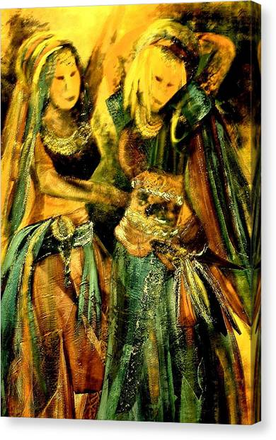 Dancing In The Harem Canvas Print
