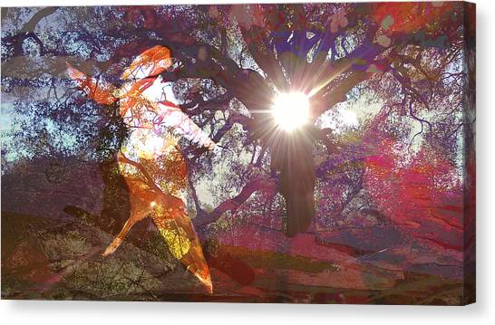 Dancing In The Park.. Canvas Print