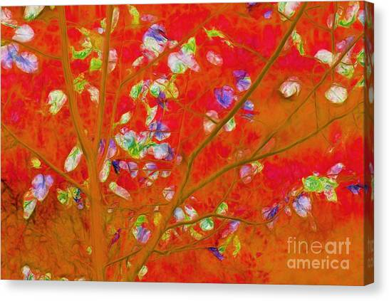 Orange Tree Canvas Print - Dancing In The Wind 01 - 341 by Variance Collections