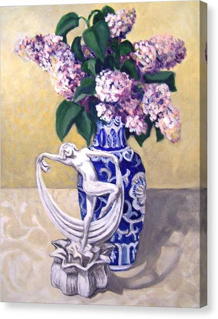 Dancing Lilacs Canvas Print
