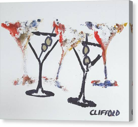 Dancing Martini's Canvas Print by Cory Clifford