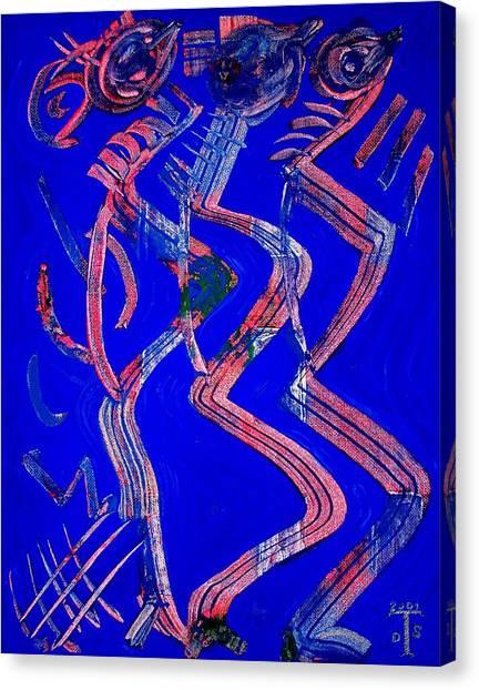 Dancing Queen Canvas Print by Teo Santa
