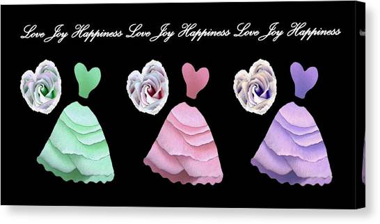 Dancing The Love Dance - Love Joy Happiness - No. 2 Canvas Print by Jacqueline Migell