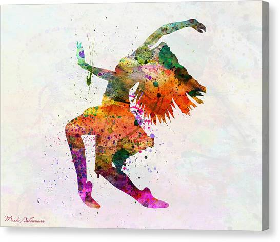 Tap Dance Canvas Print - Dancing To The Night  by Mark Ashkenazi