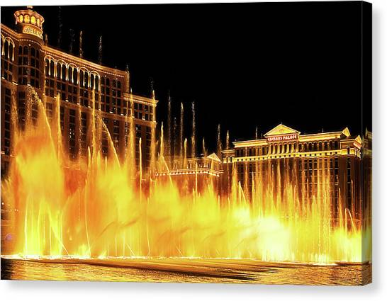 Dancing Water Canvas Print