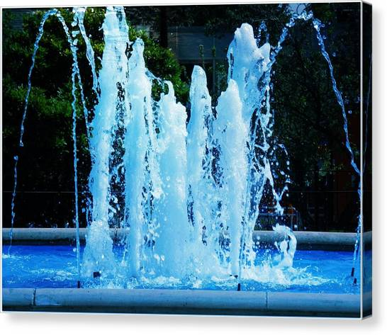 Dancing Waters Blue Canvas Print