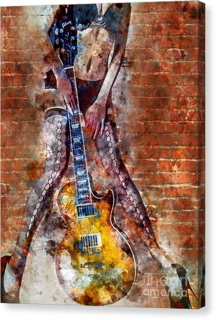 Mandolins Canvas Print - Dancing With Les Paul by Jon Neidert