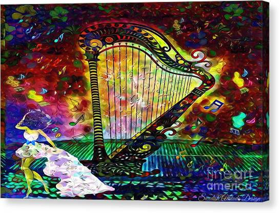 Dancing With The Harp Canvas Print