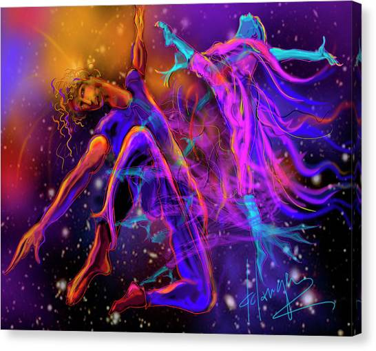 Dancing With The Universe Canvas Print