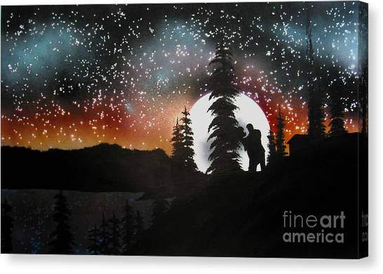 Dancing With You Canvas Print by Ed Moore