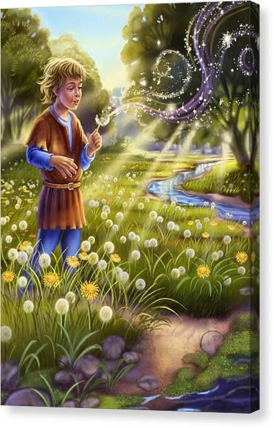 Dandelion - Make A Wish Canvas Print