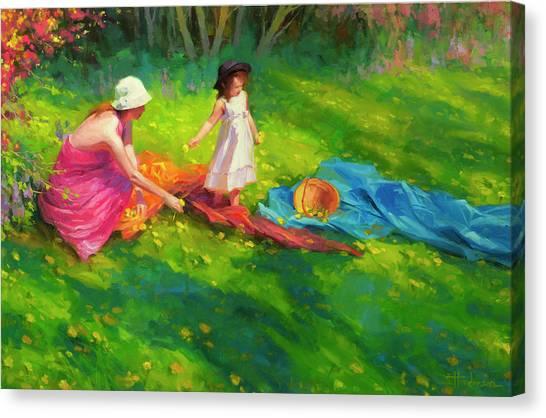 Innocence Canvas Print - Dandelions by Steve Henderson